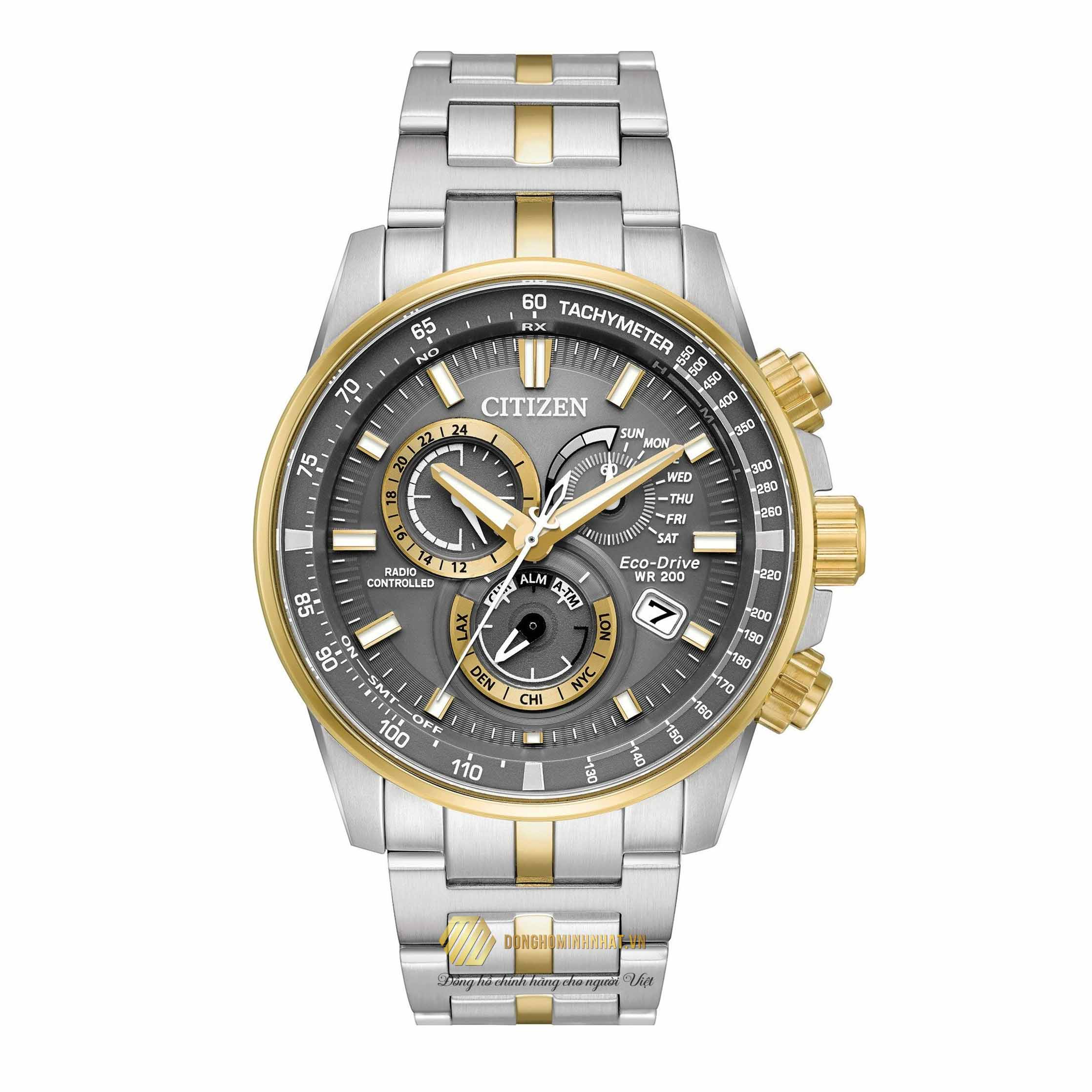 ĐỒNG HỒ NAM CITIZEN AT4124-51H PCAT GREY DIAL WATCH 43MM