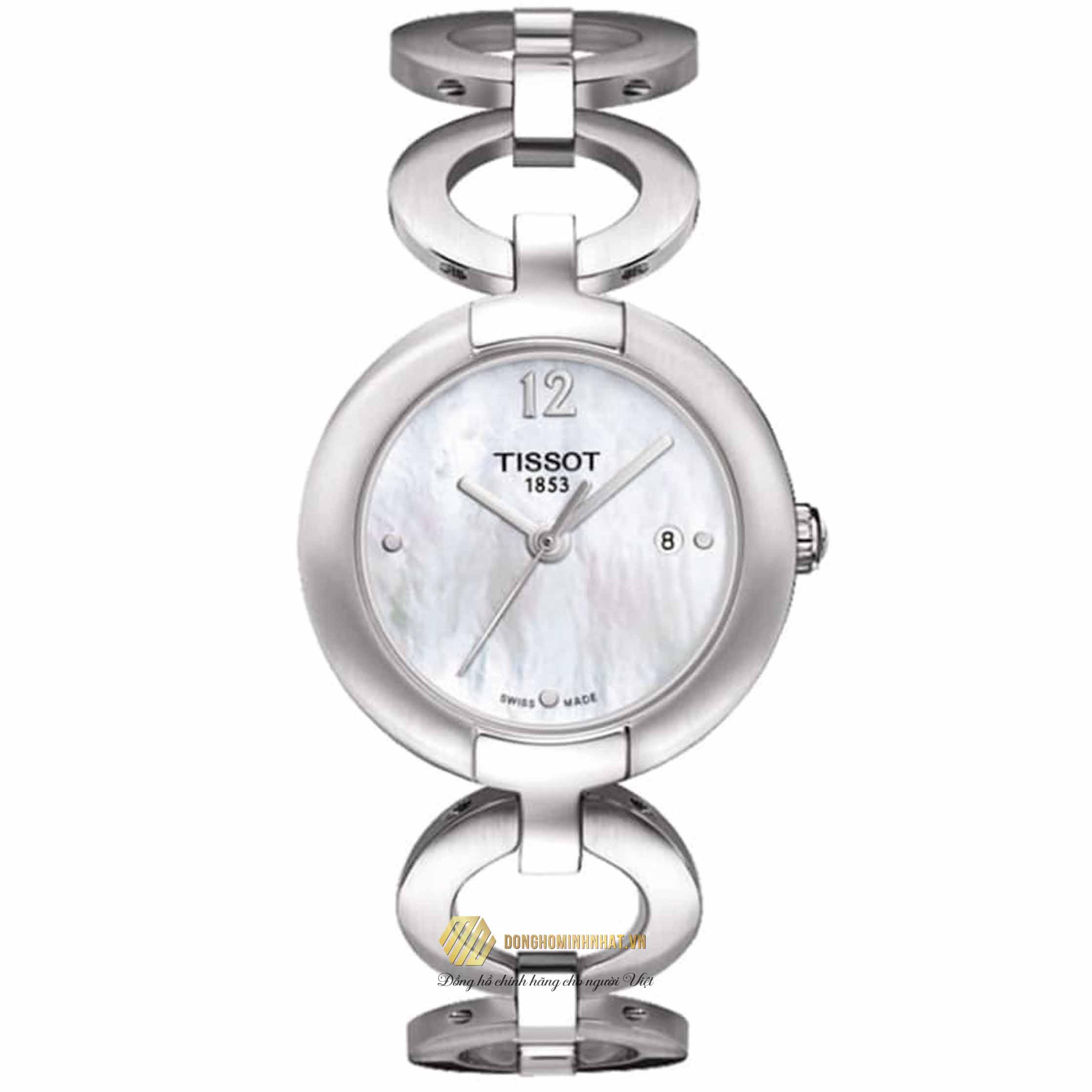 ĐỒNG HỒ TISSOT T084.210.11.116.01 White Mother of Pearl Diamond Dial Ladies