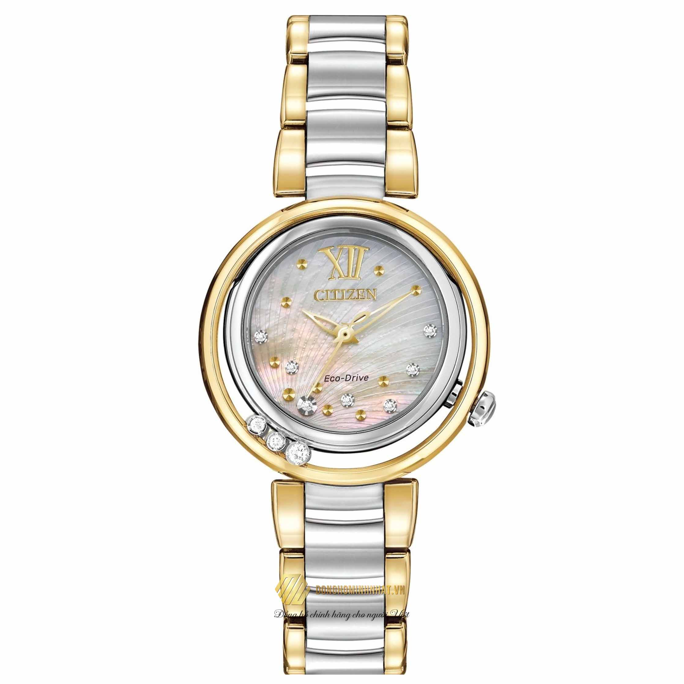 ĐỒNG HỒ CITIZEN EM0324-58D L SUNRISE DIAMOND WOMEN'S
