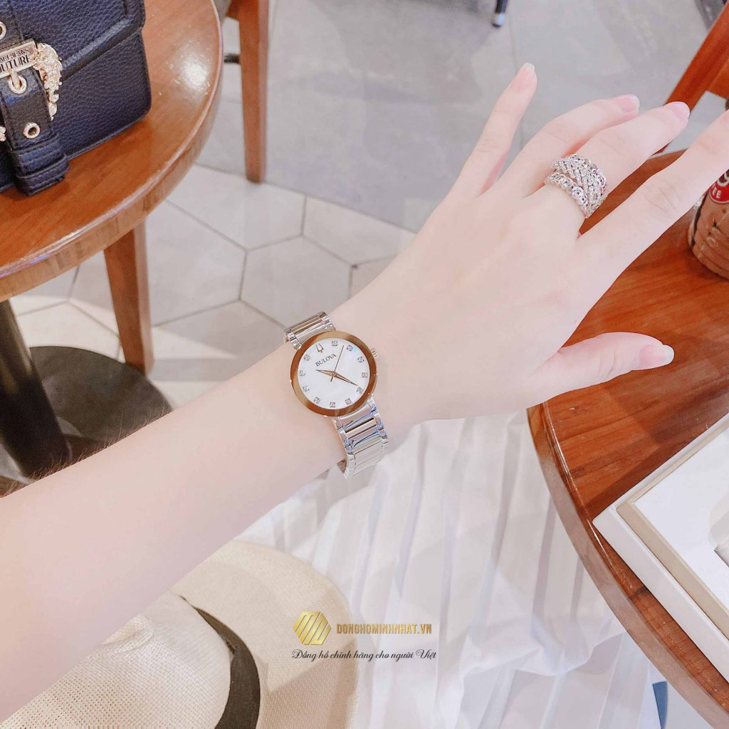 BULOVA 98P180 MODERN DIAMOND WATCH 30MM Chính Hãng