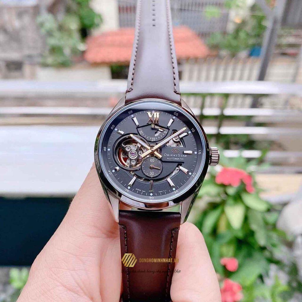ORIENT STAR RE-AV0115B00B SKELETON BROWN CHÍNH HÃNG