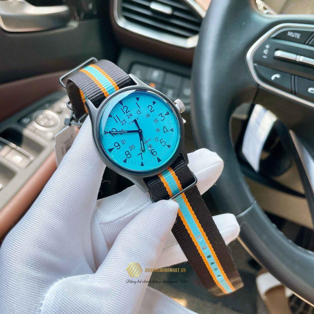 TIMEX TW2T25400 ALUMINUM BLUE DIAL CHÍNH HÃNG